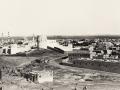 Osmanlı dönemi kalesi olan Tophane Kulesi ve arka planda Mescid-i Nebevi görülmektedir
